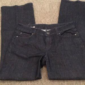 Ann Taylor dark wash trouser jeans